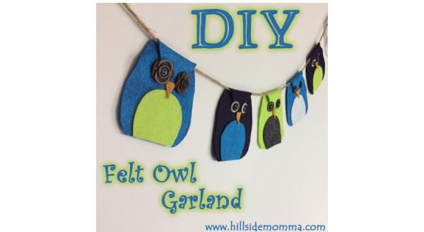 Tutorial: Felt owl garland