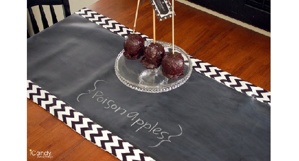 Tutorial: Chalkboard cloth table runner