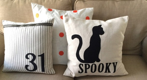 Tutorial: Spooky Cat Halloween pillow