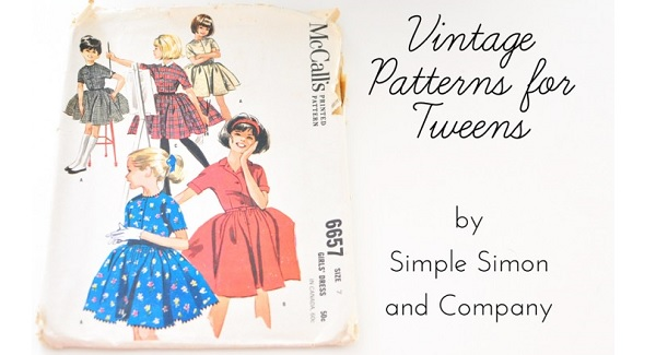 Sewing for tweens with vintage patterns