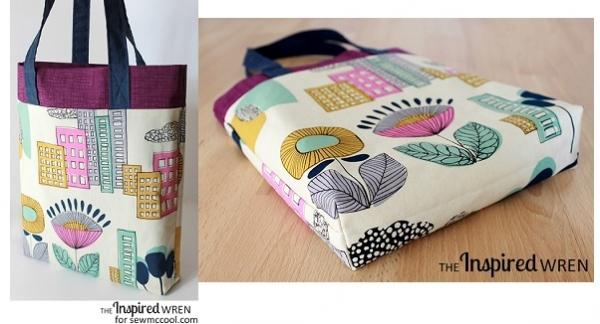 Tutorial: 3 fabric tote bag in 10 easy steps