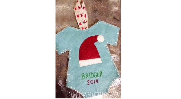 Tutorial Felt Babys First Christmas Ornament