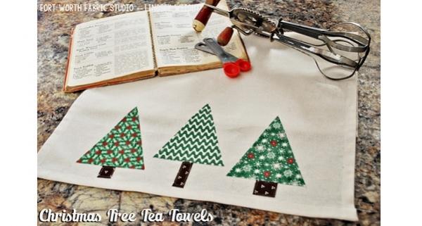 Tutorial: Christmas tree tea towel