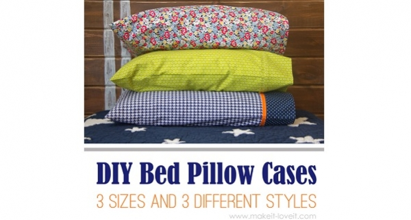 Tutorial: Easy to make bed pillow case in 3 sizes and 3 styles