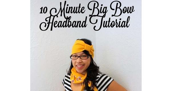 Tutorial: Big Bow Ear Warmer and Collar Cozy