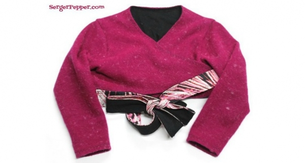 Free pattern: Child's crossover shrug