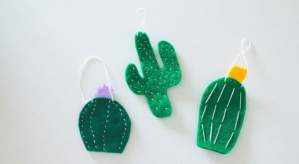 Tutorial: Cactus Christmas ornaments