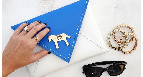 Tutorial: Color blocked envelope clutch