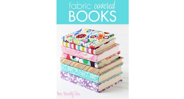 Tutorial: Fabric covered books