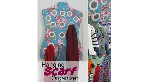 Tutorial: Hanging scarf organizer