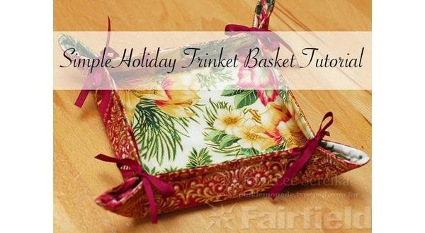 Tutorial: Simple trinket basket