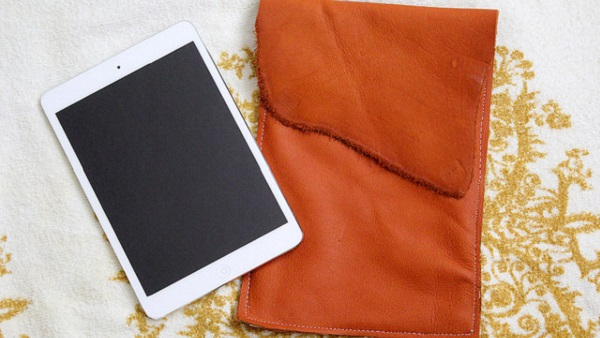 Tutorial: Lined leather iPad case