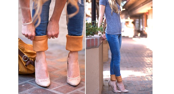 Tutorial: Update your jeans with leather cuffs