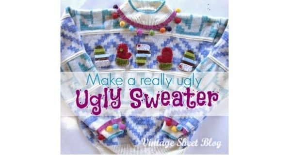 Tutorial: Ugly up your Christmas sweater