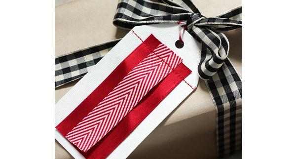 Tutorial: Scrap ribbon gift tags