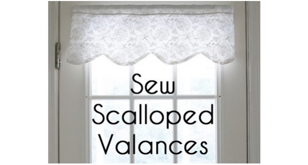 Tutorial: How to make a scalloped valance