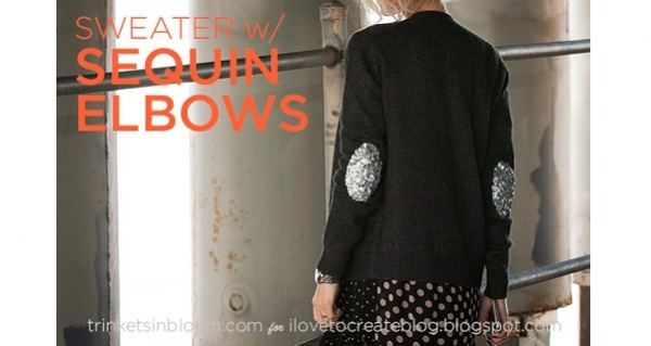 Tutorial: No-sew sequin elbow patches