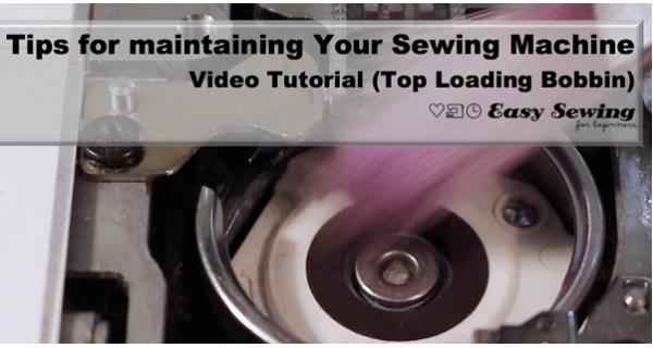 Video tutorial: How to clean a sewing machine with a front loading bobbin
