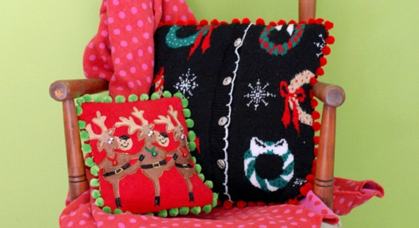 Tutorial: Turn your ugly Christmas sweater into an awesome pillow