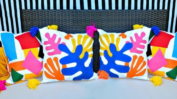 Tutorial: Matisse-inspired cutout pillows