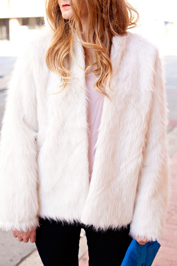Free pattern: Oversized faux fur coat