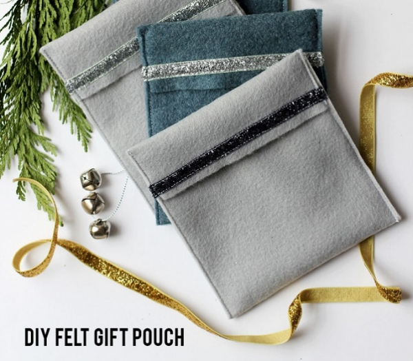 Tutorial: DIY felt gift pouches for reusable gift wrap