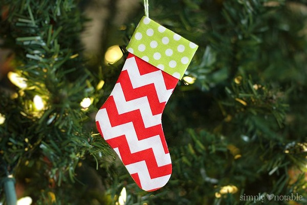 Tutorial Mini Christmas Stockings Sewing