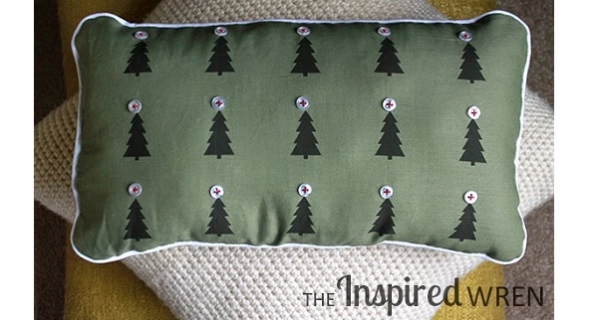 Tutorial: Christmas forest pillow or framed print