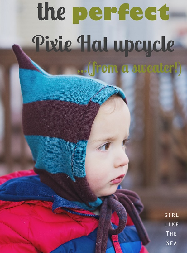 Tutorial: Pixie hat made from an old sweater