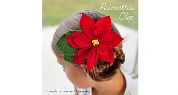 Tutorial: Poinsettia hair clip
