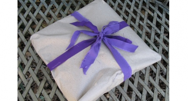 Tie your wrapped gifts in selvage and offcut fabric ribbons