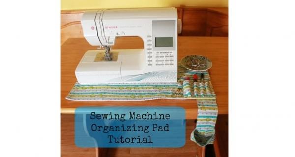 Tutorial: Non-slip sewing machine mat organizer and thread catcher