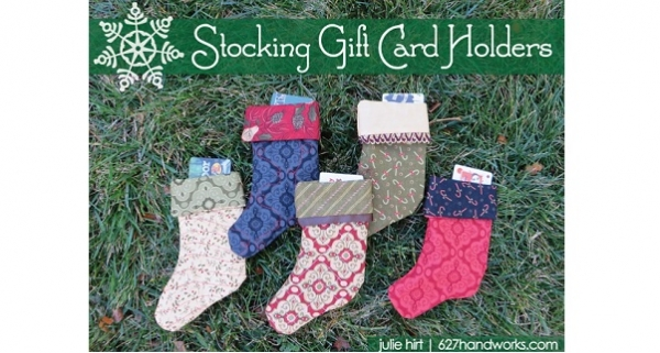 Tutorial: Christmas stocking gift card holders