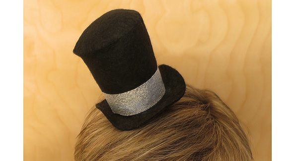 Tutorial: Felt top hat fascinator for New Years Eve