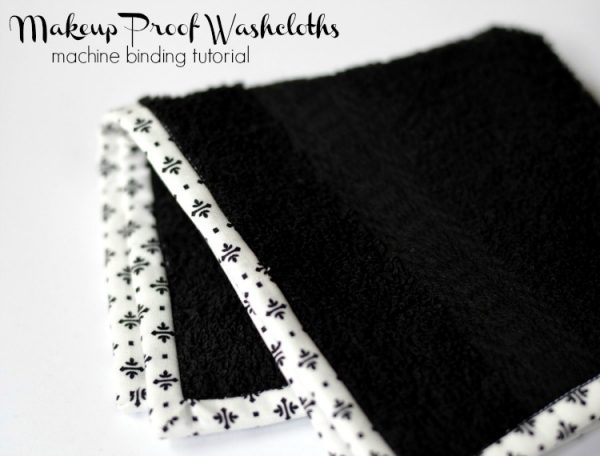Tutorial: Washcloths with a pretty fabric binding