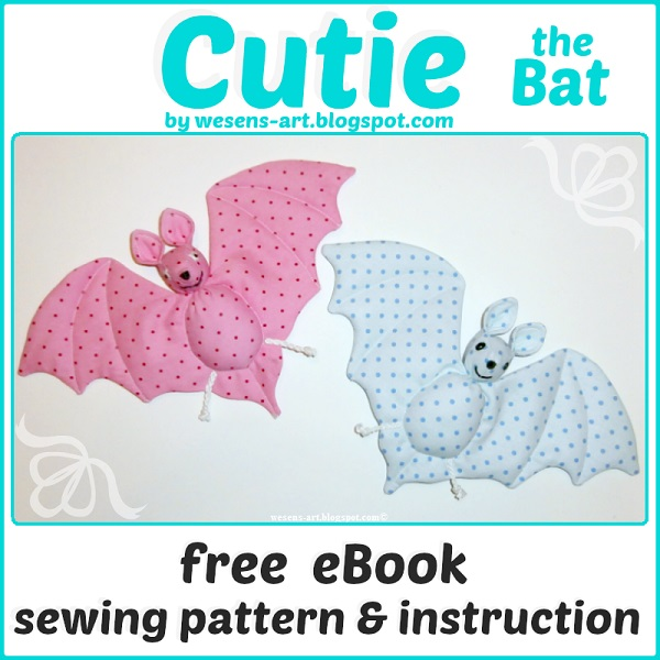 Free pattern: Cutie the Bat softie