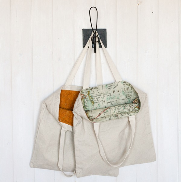 Tutorial: Two ways to line a tote bag