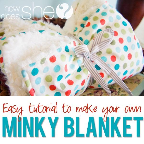Tutorial: Minky-backed baby blanket