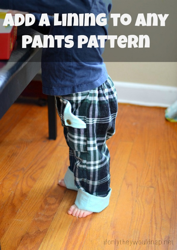 Tutorial: Add a lining to a pants pattern