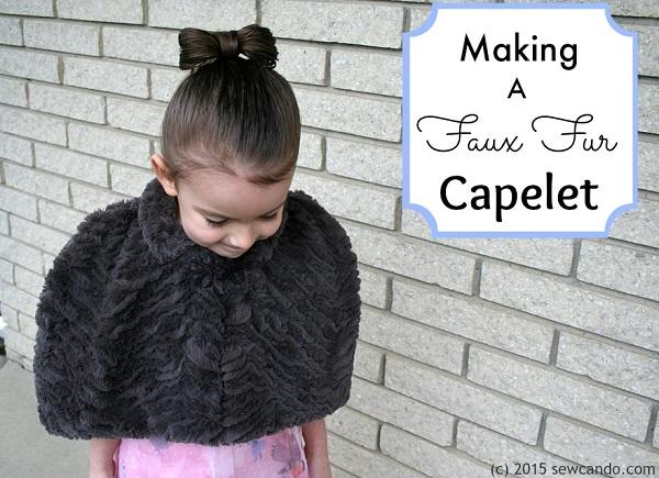Tutorial: Girls' faux fur capelet
