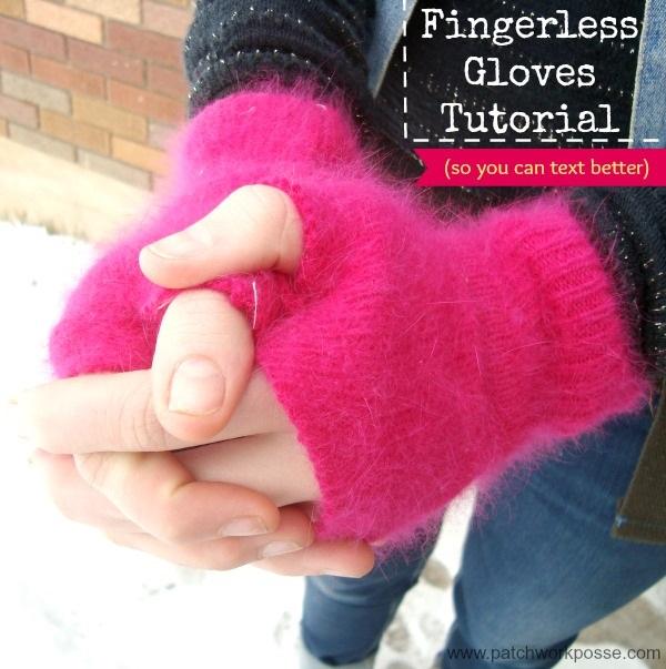 Tutorial Diy Fingerless Gloves Sewing