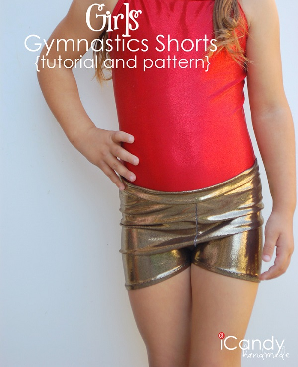 Free Pattern Girls Gymnastic Shorts Sewing