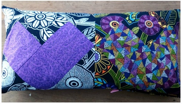 Tutorial Patchwork Heart Valentine S Bolster Pillow Sewing