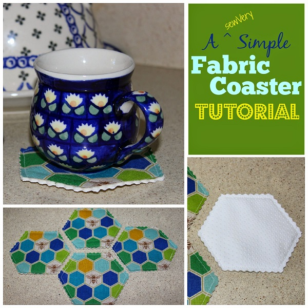 Tutorial: Simple hexagon fabric coasters