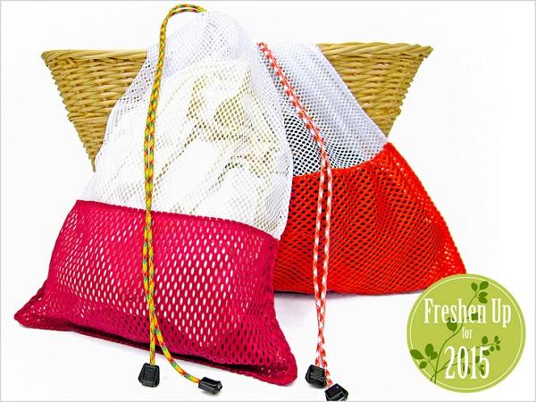Tutorial Drawstring Mesh Laundry Bags Sewing