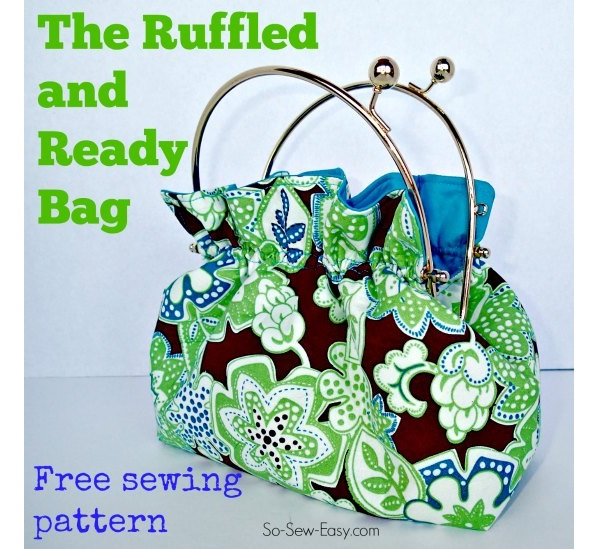 Free pattern: Ruffled And Ready Bag