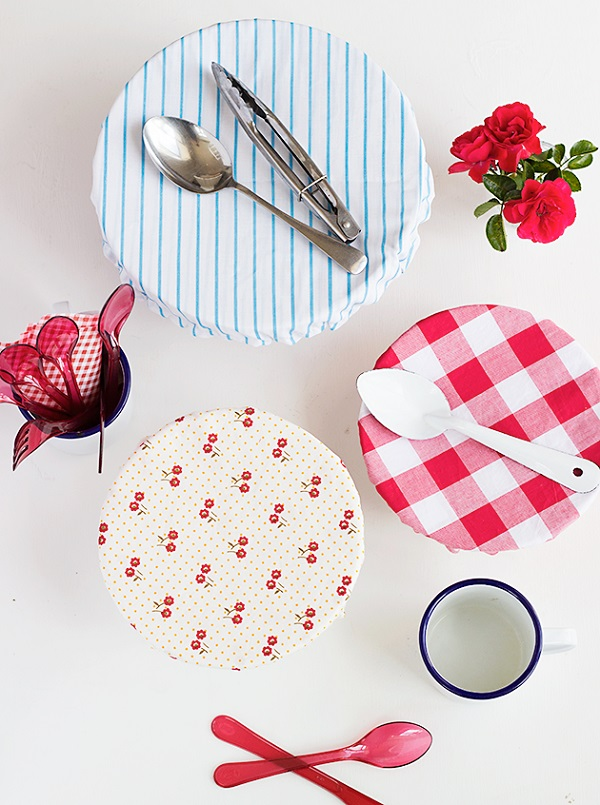 Tutorial Reusable Fabric Bowl Covers Sewing