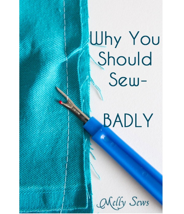 It's okay to sew badly