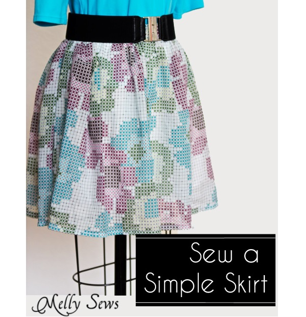 Tutorial: Sew a simple gathered skirt