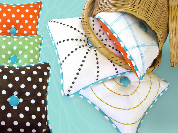 Tutorial: Use your sewing machine's decorative stitches to create these fun pillows